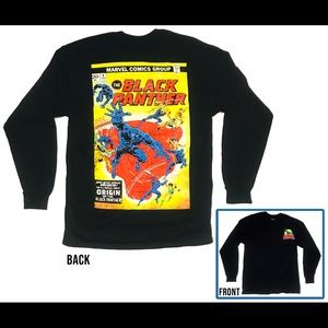 Marvel Comics Black Panther Origin Long Sleeve Tee
